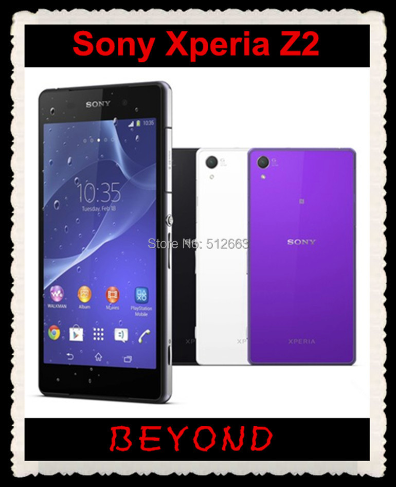"bilder für Sony Xperia Z2 D6503 Original Unlocked GSM 3G & 4G Android Quad Core 3 GB RAM 16 GB ROM 5,2 ""20.7MP WIFI GPS Dropshipping"