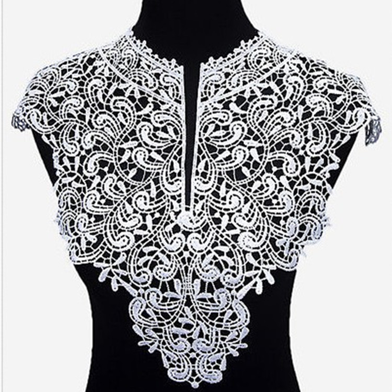 1PC Flower DIY Lace Fabric Detachable Collars Women Clothing Sewing Accessories Lace Neckline Home Apparel Sewing Fabric Supply
