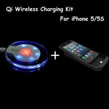 Qi Sans Fil Chargeur Pad + Cas De Charge Récepteur Pour iPhone 5S Haute Qualité Sans Fil Chargeur Kit Pour iPhone 5