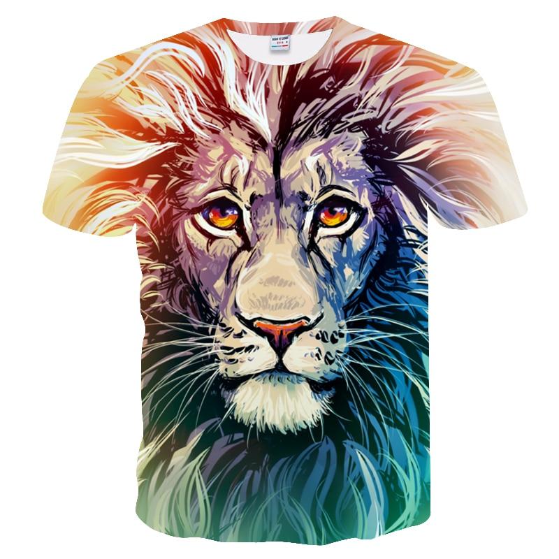 BIANYILONG 2018 New High Street Men/Women T-shirt 3d Lion Print Designed Stylish Summer T shirt Brand Tops Tees Plus Size M-5XL  4