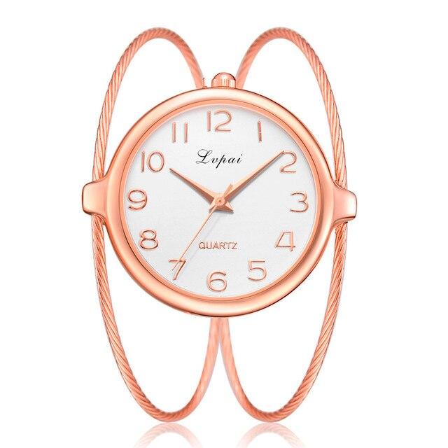 2018 Best Sell Women Watches Lvpai New Fashion Casual Quartz Bracelet Watch Anal