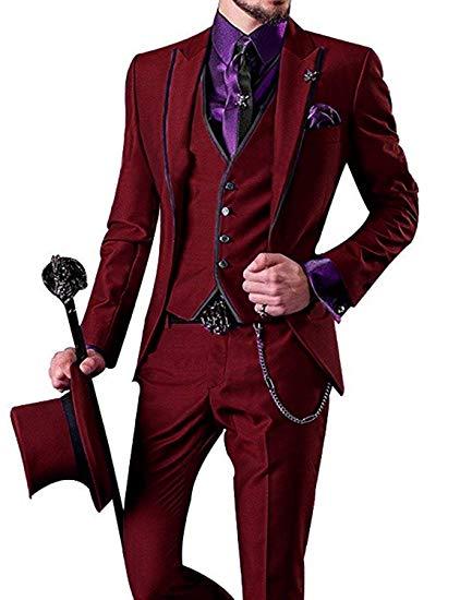 068c1224a8e1a7 Vest Costume Slim Picture Color Fit Abiti red Prom custom giacca Partito Da  Tuxedo Picture As 3 Elegante Smoking Pantaloni as Homme Sposa Del Uomo ...