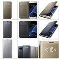 Оригинальный СВЕТОДИОДНЫЙ Дисплей Посмотреть Флип Кожаный Бумажник Смарт Case EF-NG935 для Samsung Galaxy S7/S7 Edge