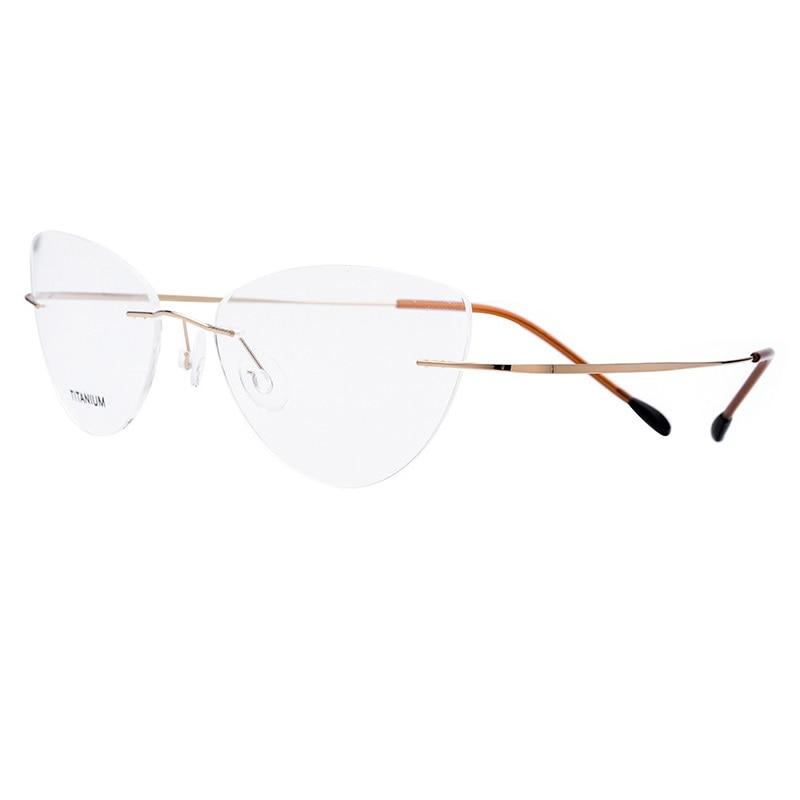 Frame Bingkai Di de Ojo Batal lentes Vazrobe Nerd Siluet Wanita gato Sin Untuk Kacamata montura Dari Óptica Marcos de Perempuan TITwU0q