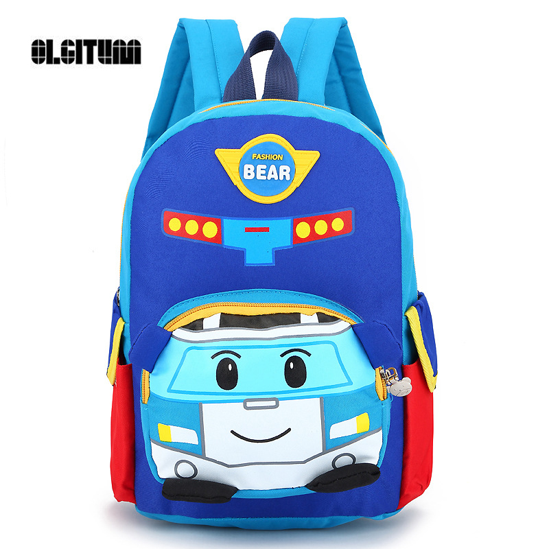 OLGITUM 2017 New version of simple school bag chilren school bags summer new cute cartoon kindergarten