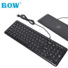 B.O.W Ultra thin Quiet Small Size 96 Keys Mini Multimedia USB Keyboard For Laptop PC, Wired Plug and Play
