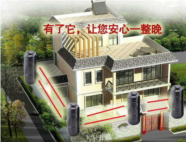 100m 150m OUTDOOR DUAL BEAM PHOTOELECTRIC DETECTOR/2 IR Beam Infrared Barrier Detector Home Yard Window Gate Alarm System 2 ir beam 30m infrared beam detector sensor door gate window alarm system