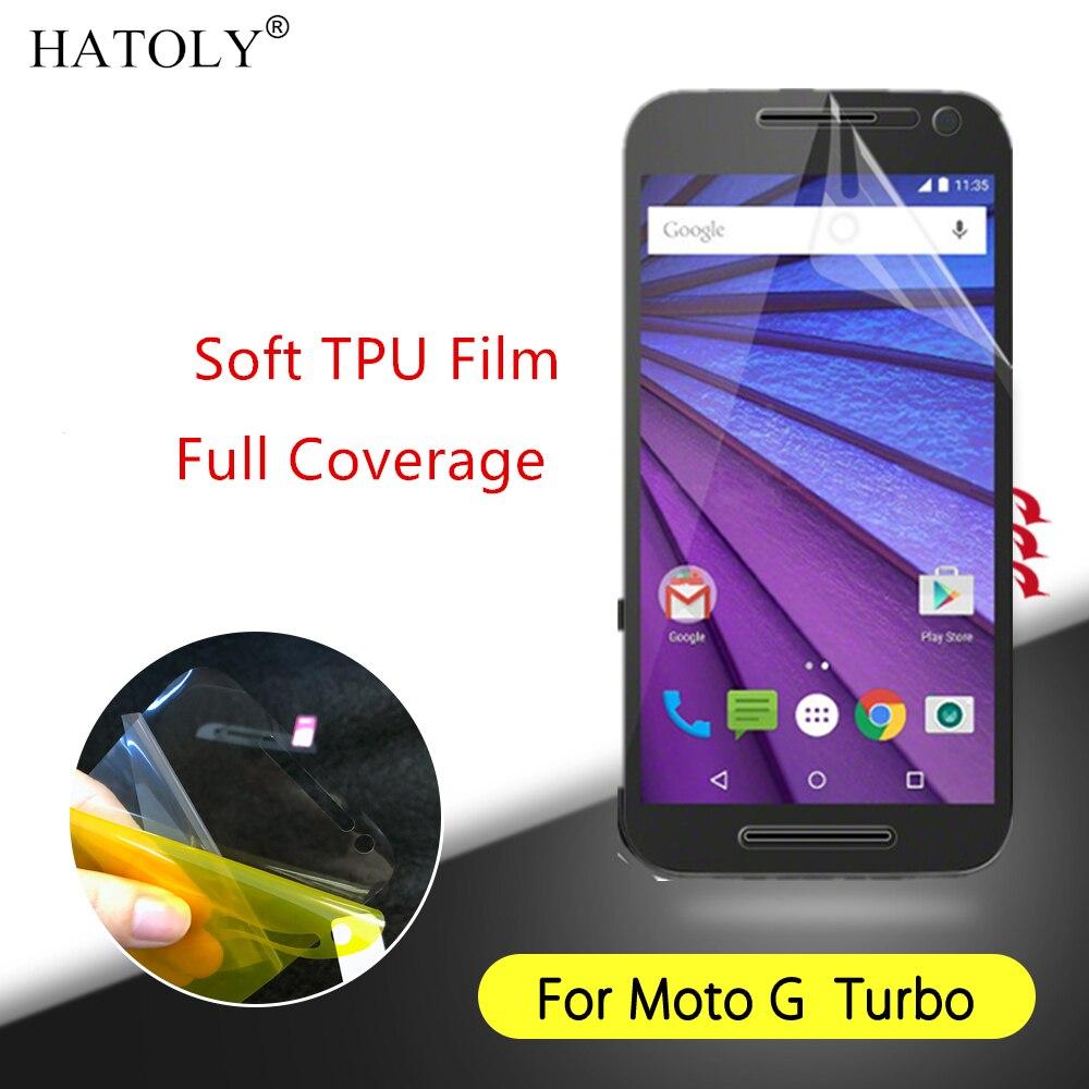 Soft TPU Nano Film Foil for Motorola Moto G Turbo Edition XT1556 Screen Protector for Moto G Turbo Full Cover Film Not Glass