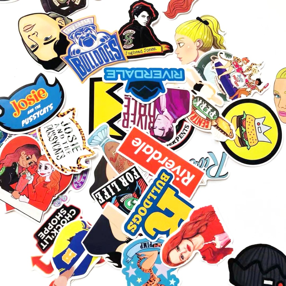 35 pçs riverdale fãs anime decalques engraçados scrapbooking diy adesivos decoração telefone portátil à prova dwaterproof água dos desenhos animados acessórios
