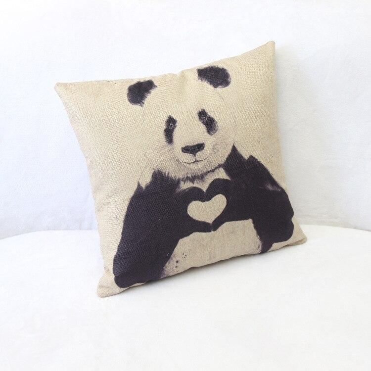 MYJ print dining chair cushion 45x45cm car seat cushions Home decorative pillow for sofa Manufacturers Selling Cute Panda Cotton