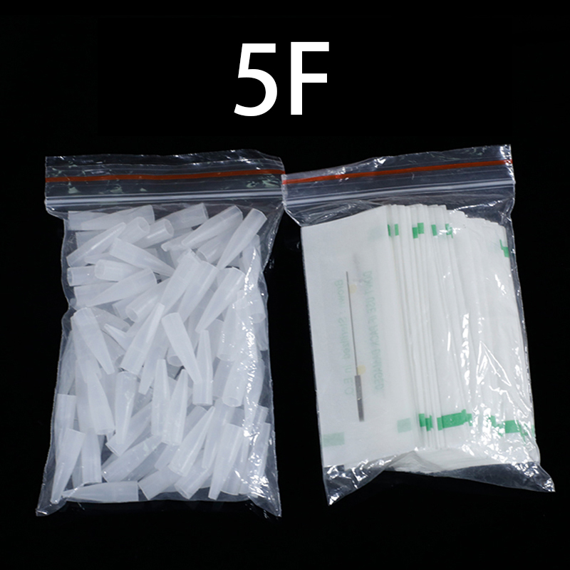 Image 2 - 100PCS 1R 3R 5R 5F 7F PMU Needles + Needle Tips Disposable Sterilized Professional Tattoo needles for Permanent Makeup Eyebrow-in Tattoo Needles from Beauty & Health