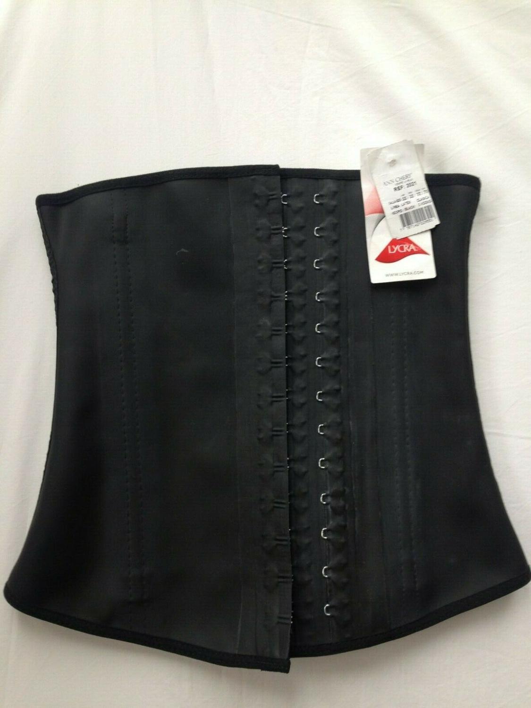 Ann Chery 2025 Corset d'entraînement de taille ceinture en Latex noir taille S-2XL ~ Corset en Latex ~ lingerie de designer ~ images de sexe chaud pour femmes - 5