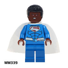 Building Blocks Single Sale WM339 Val Zod Earth 2 African Superman Super Brother Super Heroes Best Toys Gifts for Children(China)
