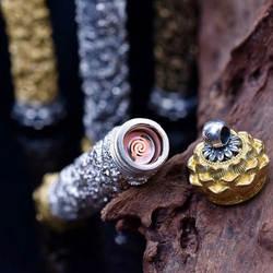 Тысячи серебра в девяти легких Фэн блестящие. вам серебро S925 зажигалки ручной резьбой longyou девять Портативная зарядка flint