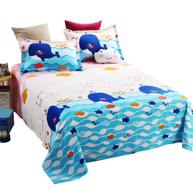 Flat Sheet Child (Queen, Printed) Cotton Soft, Breathable, Iron Easy,