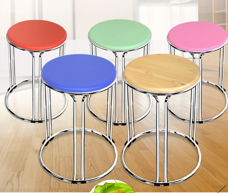 Wholesale 30*45cm Colorful Round Stool Living Room stool Hotel Cafe Bar stools wholesale 30 45cm colorful round stool living room stool hotel cafe bar stools