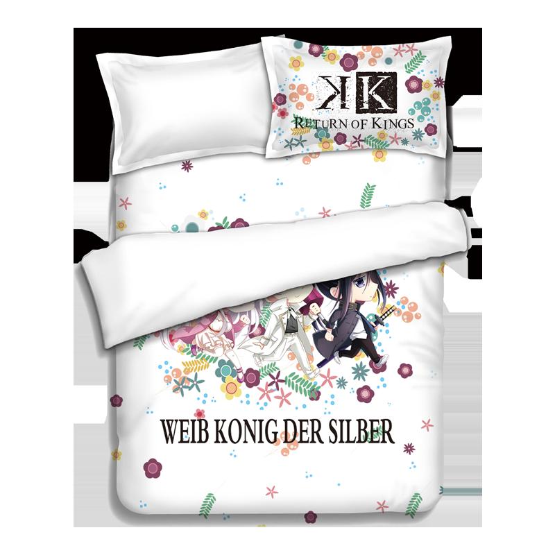 Японского аниме K кровать Простыни S Постельные принадлежности Простыни Постельное бельё Стёганое одеяло крышка Наволочки покрывало 4 шт.