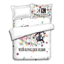 Japanese Anime K Bed sheets Bedding Sheet Sets Comforter Quilt Cover Pillow Case 4PCS