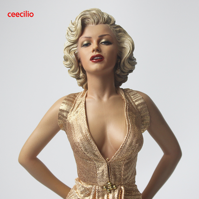 <font><b>1/4</b></font> Scale Blondes Marilyn Monroe Statue pvc <font><b>Sexy</b></font> <font><b>Figure</b></font> Collectible Model Toy 42cm image