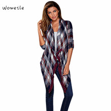 Woweile High Quality Hot Selling Women Cardigan Loose Long Sleeve Cardigan Outwear Coat