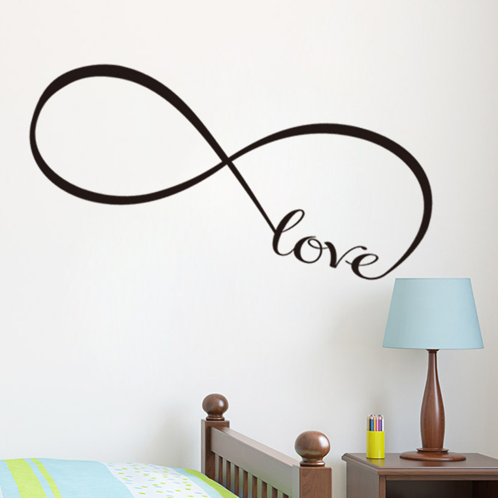 Infinity symbol words love wall sticker vinyl bedroom wall decal infinity symbol words love wall sticker vinyl bedroom wall decal home living room wall stickers wall decorations kids room decor in wall stickers from home amipublicfo Gallery