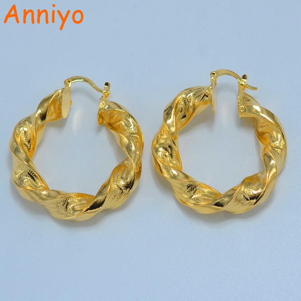 Anniyo (3 size) Thick Earrings African Gs