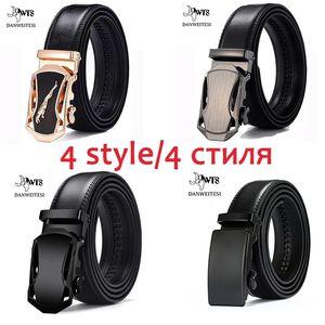 Image 2 - [DWTS]Genuine Leather Belts For Men Automatic Male Belts Cummerbunds Leather Belt Men dropshipping Black Belts cinturon hombre