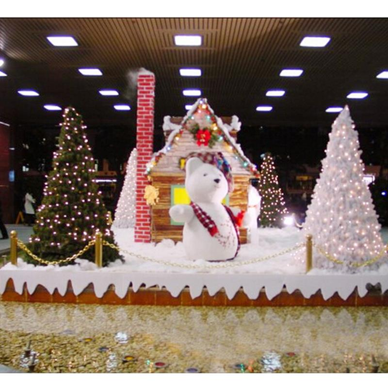 Snow Powder Enfeites denatal Christmas Tree Ornaments for ...