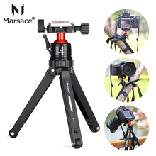 Marsace MT-01 Flexible Aluminum Tabletop Tripod Stand Kit with ball head Compact Travel Tripod for Canon Nikon Sony DSLR Video