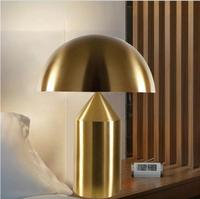 Creative art metal table light gold/coppery/white/black Nordic modern mushroom table lamp bedroom bedside reading desk lamp