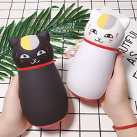 Cute Sweet Vacuum Flasks Cup Water Bottle Animal Cat Model Stainless Steel Thermos Cup Thermos Coffee