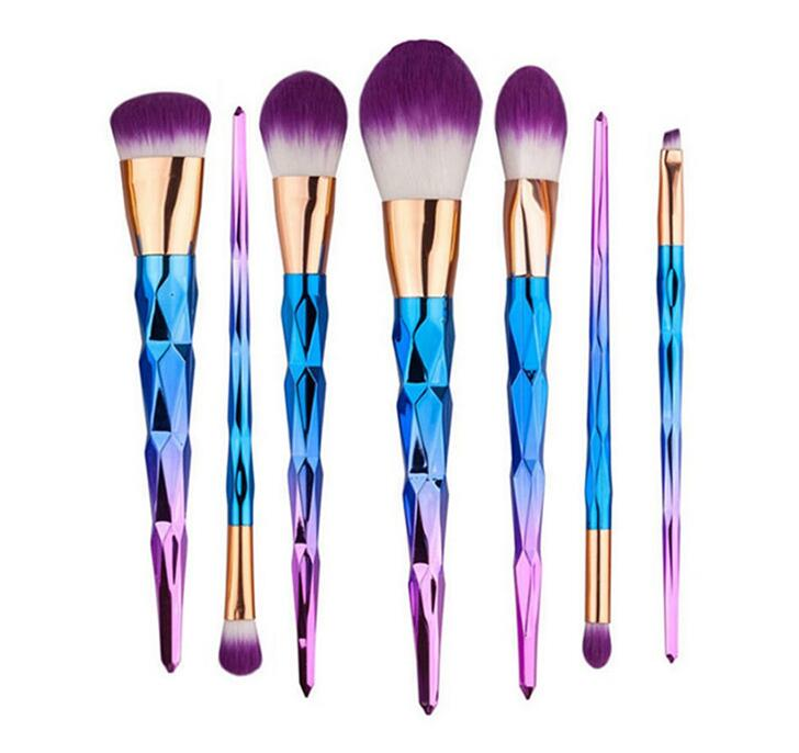 Pincel de Maquiagem Deslumbramento Rainbow Glitter Em