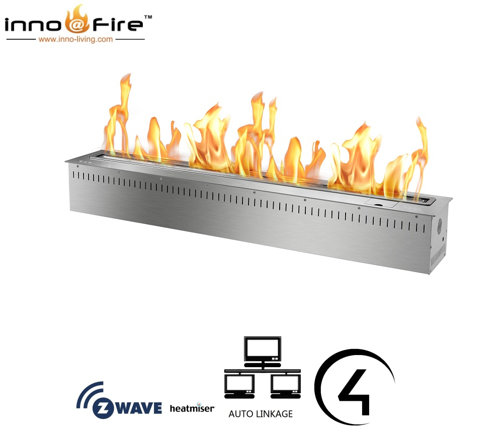 On Sale 48 Inch Electronic Bioethanol Smart Decorative Fireplaces With Remote Control