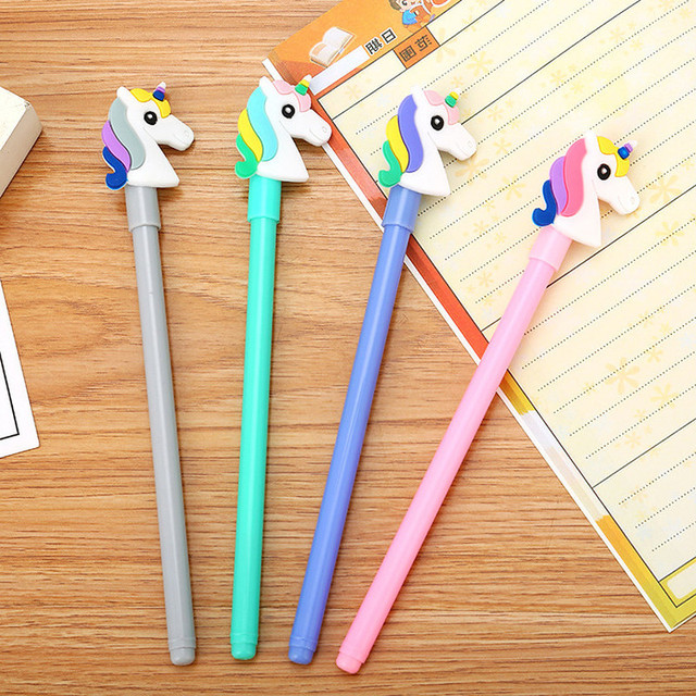 40 Pcs Cute Unicorn Neutral Pen Creative Stationery School Cartoon Student For Writing Pen Fresh Office Supplies Signature Penus 0 39