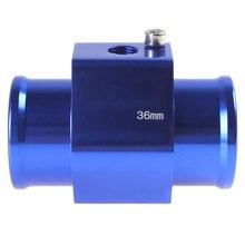 Синий 36 мм Авто температура воды Temp сенсор Автомобильный переходник для датчика 36 мм алюминий с зажимами низкая цена