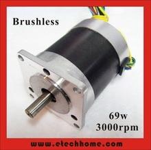 Free Shipping! 24V 57 Brushless DC Motor 69W 3000rpm nema 23 BLDC Motor 3Phase 30.6oz-in