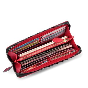 Image 5 - CAJIFUCO Japan Korean Style Women Wallet Money Clip Luxury Genuine Leather Wallet Clutch Male Female Long Wallet Coin Holder