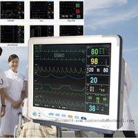 15'' ICU Patient Monitor Vital Signs Monitor 6 Parameters Touch Screen CMS9200+