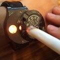 Novo 2016 Militar Relógio dos homens Casual relógios de Pulso de Quartzo esportes de Carregamento USB Isqueiro com Cigarro Sem Chama À Prova de Vento Mais Leve