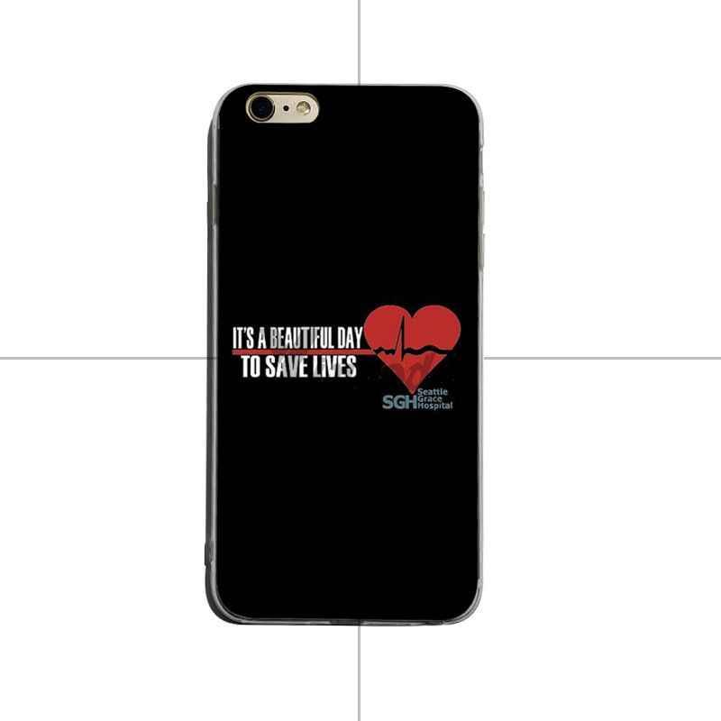 Yinuoda Grays Anatomia da TV Americana linda Acessórios Do Telefone Caso tpu macio Para o iphone X XS XR XsMax 8 plus 6 6 s 7 7 plus Mobilecover