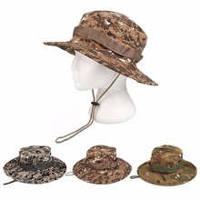 Outdoor Hiking Fishing Hunting Camo Boonie Bucket Hat Tactical Army Military Jungle Bush Summer Sun Camouflage Caps