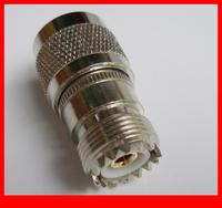 10 pcs RF adapter UHF male to UHF female straight