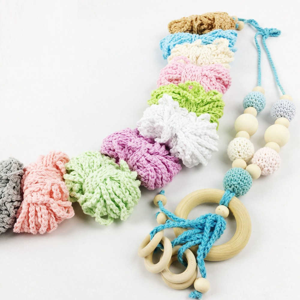 50 yards Crochet thread Hand Weave Non-toxic Protection Can Chew DIY Crafts Teether Infant Necklace Decor Accessories