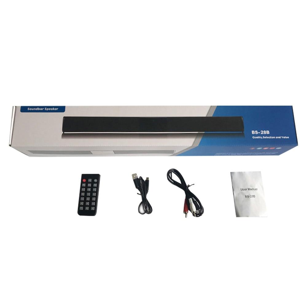 BS 28B Wireless Bluetooth Soundbar Speaker TV Home Theater Soundbar + Remote Control(China)