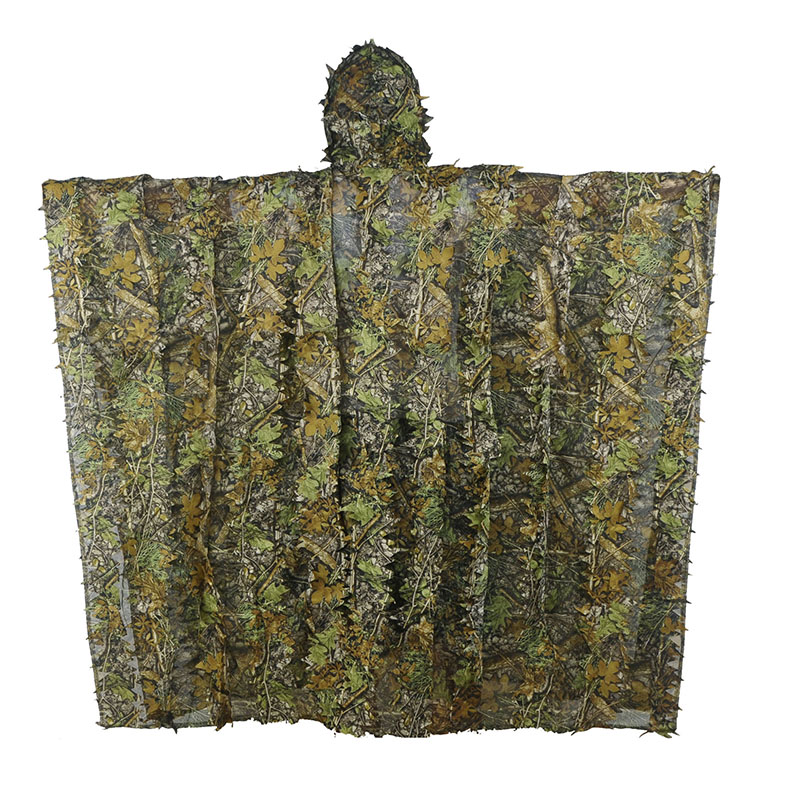 LOOGU Camo Maple Ghillie Camouflage Suit Net Jungle Birding outdoor Huntting Poncho Durable Sniper 3D Maple Dimensional Cloak