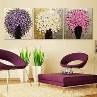 Urijk 3pcs Set Paintings By Numbers On Canvas DIY Modular Pictures Wall Frameless Oil Painting By