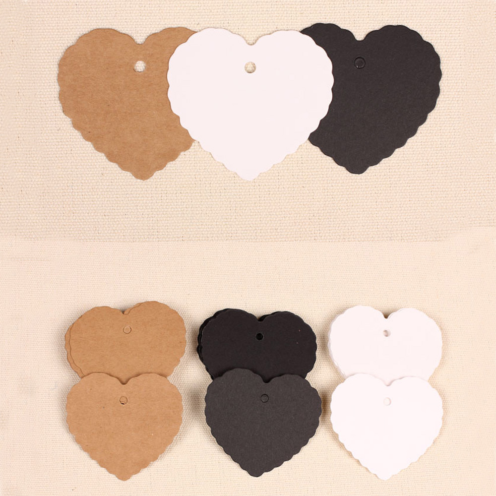 Vintage Heart Paper Tag Gift Box Tags Wedding Favor Box Hang Tags ...