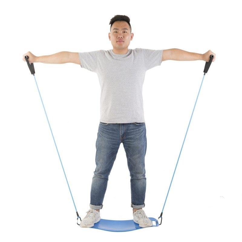 Yoga tordant Fitness Yoga conseil + cordon Balance conseil Simple entraînement de base pour les Muscles abdominaux et l'équilibre des jambes