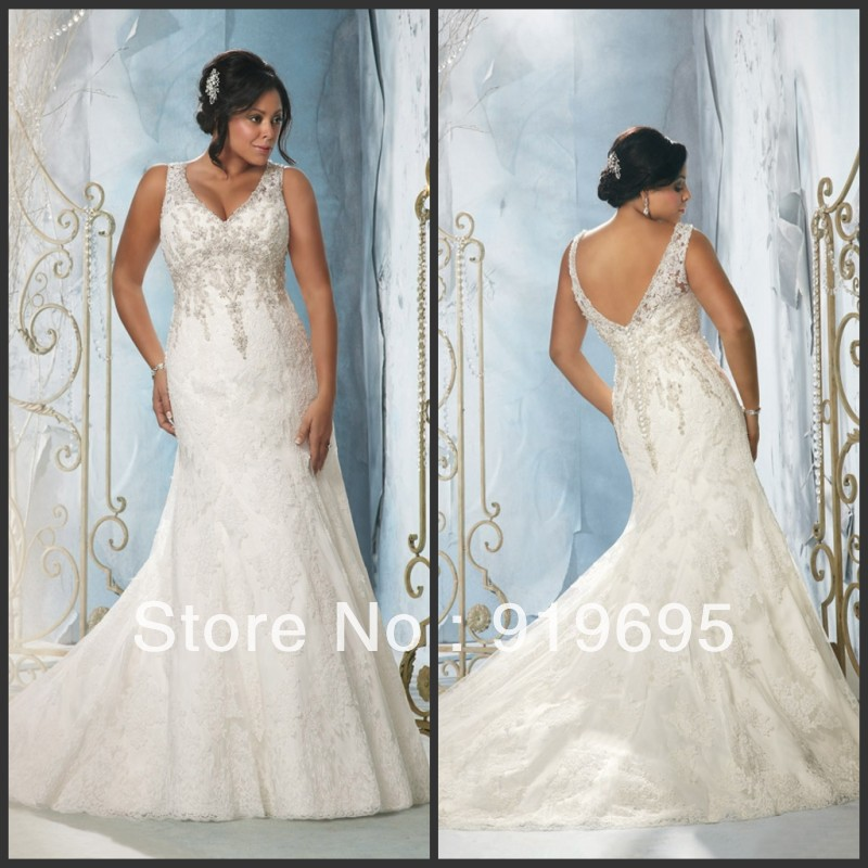 e38c4ae5fbf4f Free Shipping Popular Cap Sleeve Lace Appliques Plus Size Western Style Wedding  Dress-in Wedding Dresses from Weddings   Events on Aliexpress.com
