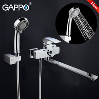 GAPPO Waterfal Bathtub Sink Faucet Mixer Bathroom Shower Faucet Wall Bathtub Taps Basin Sink Mixer Bath